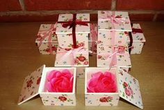 souvenirs 10 cajas con pétalos de jabón cumpleaños bodas