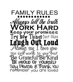 Items similar to Large Family Rules... on Etsy