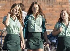 Small screen star: Isabelle plays rebellious Vicki on Channel Ten drama Puberty Blues School Wear, School Uniform Girls, Girls Uniforms, Prep School, Film Aesthetic, Retro Aesthetic, Character Aesthetic, Private School Girl, Toned Stomach