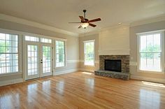 FAVORITE Family Room Addition Like Window Placement And Door Put Tv Over Electric Fireplace