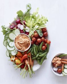 The PERFECT Crudite platter with the most addictive whipped red pepper dip / you'll want this for breakfast + lunch + dinner!! Kopanisti with Crudite from www.whatsgabycooking.com (@whatsgabycookin)