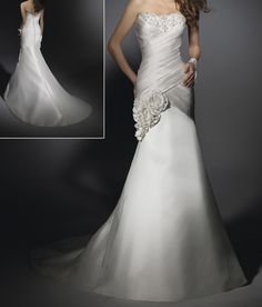 New Embroidered Mermaid Wedding Dress/Bridal Dress (Angela-151)
