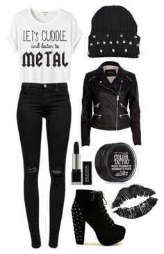 """""""All You Sinners Stand Up, Sing Hallelujah (tag)"""" by katielynnr ❤ liked on Polyvore featuring J Brand, River Island, MAKE UP FOR EVER, Maybelline and modern"""