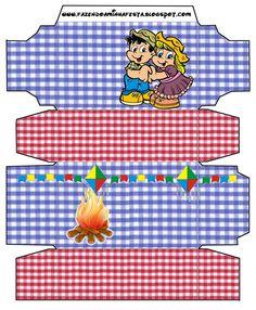 Cajitas imprimibles de fogata.   Ideas y material gratis para fiestas y celebraciones Oh My Fiesta!