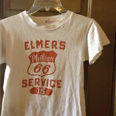 Bulldog Vintage: 1950s Phillips 66 Runner Tag Champion t-shirt (via ebay)