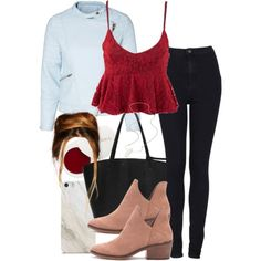 A fashion look from December 2016 featuring Minimum jackets, Topshop jeans and Forever 21 ankle booties. Browse and shop related looks.