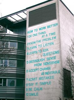 10 advices by Fischli & Weiss