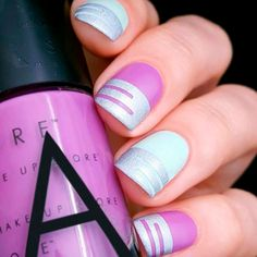 TOP 24 Trendy Nail Designs for Short Nails ★ See more: http://glaminati.com/nail-designs-for-short-nails-trendy/
