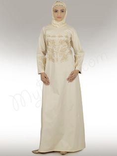 Sakina Abaya, Cream, Burkha, Burqa, burqua, XS, S, M, L, XL, XXL, 2XL, 3XL, 4XL, 5XL, 6XL, 7XL, embroidered, embroidery, saudi, arab, modern, traditional
