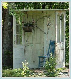 Outdoor 'nook' made from old doors