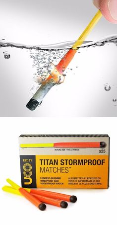 UCO Titan Stormproof Matches - Survival gear - Tap The Link Now To Find Gadgets for Survival and Outdoor Camping Survival Gadgets, Survival Life, Survival Food, Wilderness Survival, Camping Survival, Survival Prepping, Emergency Preparedness, Survival Skills, Winter Survival