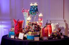 this candy station brings so much color!
