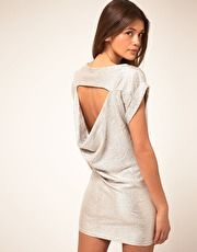 asos metalic open back dress