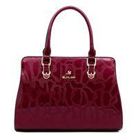 nuevo bolso de las mujeres de la marca / piedra 2014 de la PU bolso de la mujer de moda bolsa de mensajero ocasional bolsa shoulser solo envío gratuito