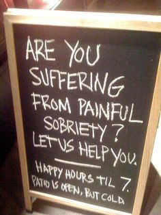 One of the most effective form of advertising from bars are personalized bar signs. They're just so funny you'll HAVE to stop and have a beer. Funny Bar Signs, Pub Signs, Beer Signs, Coffee Signs, Bartender Funny, Bartender Quotes, Drinking Quotes, Chalkboard Signs, Chalkboard Ideas