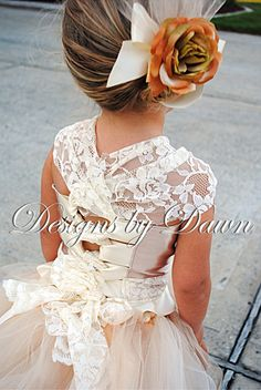 Amazing flower girl dress...