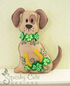 Dog Stuffed Animal Pattern  Felt Plushie by SquishyCuteDesigns, $5.00