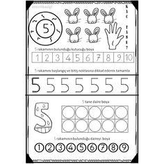 Çok yönergeli muhteşem çalışmalarıma bir like Numbers Preschool, Math Numbers, Preschool Worksheets, Kindergarten Math, Learning Activities, Preschool Activities, Kids Learning, Education Quotes For Teachers, Quotes For Students