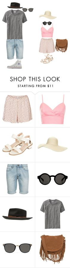 """""""Untitled #144"""" by kissmy-208 ❤ liked on Polyvore featuring Vero Moda, Topshop, Reger by Janet Reger, Topman, Monki, Brixton, Old Navy, Converse, Garrett Leight and Rip Curl"""