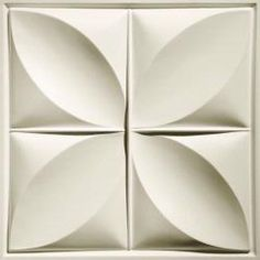 Petal White Ceiling Tiles feature one of our most unique and eye-catching designs. Their white finish is bright, pure, and easy to clean. Drop Ceiling Panels, Drop Ceiling Basement, Drop Ceiling Grid, Drop Ceiling Tiles, Accent Ceiling, Dropped Ceiling, White Ceiling, Decorative Wall Panels, Decorative Tile