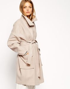 ASOS+Coat+With+Kimono+Sleeve+And+Funnel+Neck