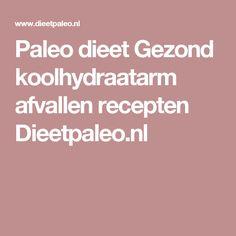 Paleo dieet Gezond koolhydraatarm afvallen recepten Dieetpaleo.nl