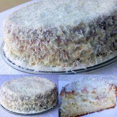 Fuzzy Wet Towel Cake - View Recipe:- Bolo Toalha Felpuda Molhadinho – Veja a Receita: – Learn how to prepare this wonderful recipe for Wet Fluffy Towel Cake - Food Cakes, Cupcake Cakes, Sweet Recipes, Cake Recipes, Banana Chips, Portuguese Recipes, Cake Cookies, Chocolate Recipes, Vanilla Cake