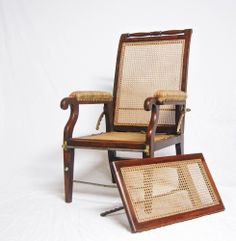 Late Victorian Conservatory or Lounge Reclining Chair with Adjustable | jasonclarkeltd - Antique Vintage Decor