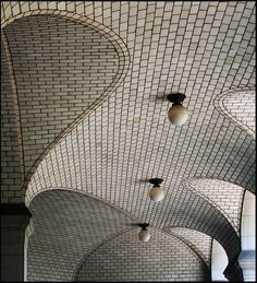 Stunning ...........Vaulted Ceiling with Globe Lights by justonemore (JOM), via Flickr