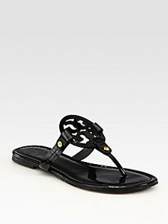 80d7a8058 Tory Burch - Miller Patent Leather Logo Thong Sandals Miller Sandal
