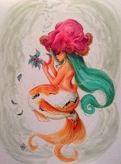 koi mermaid commission by Peng-Peng.deviantart.com on @DeviantArt