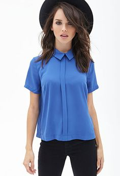 Classic Georgette Shirt   FOREVER 21 - 2000067286