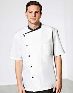 Short sleeve vented chef coat