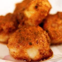 Buffalo Scallops- Not sure if I would like to combine my love for wings and my love for scallops but hey, it's worth a try!