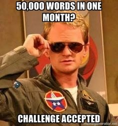 NaNoWriMo meme :D  Challenge Accepted!