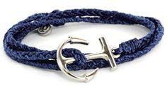 Gold Anchor Aqua | Pura Vida Bracelets