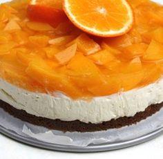 Perzik- sinaasappel Monchoutaart