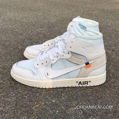 d1cef888e5612d OFF-WHITE X Air Jordan 1 OW Collaboration All White AQ0818-100 Best