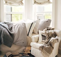 Soft colours and fabrics, perfect for autumn nesting.