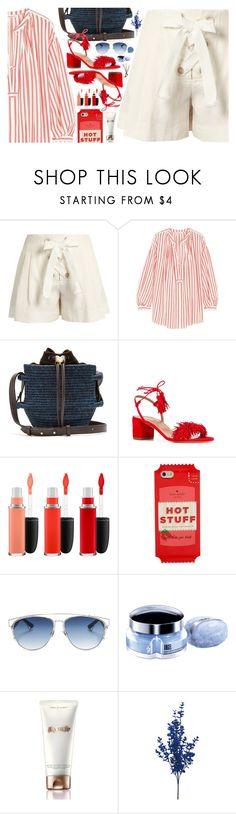 """summer shorts"" by sharmarie ❤ liked on Polyvore featuring Sonia Rykiel, Khokho, Aquazzura, MAC Cosmetics, Kate Spade, Christian Dior, Thierry Mugler, La Mer and BOBBY"