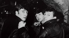 John Lennon and Paul McCartney at the Cavern Club.