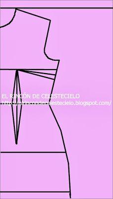 El Rincon De Celestecielo: Patrones trazo delantero de blusa manga japonesa parte I