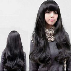 Black Full Lace Wavy Long Synthetic Wig