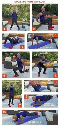 Dolvett's at home workout...no excuses!