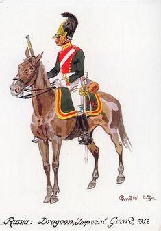 Dragon de la garde impériale - 1812 - par Knötel