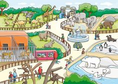 Images of zoo drawing for kids - Zoo Pictures, Wild Animals Pictures, Animal Pictures, Zoo Drawing, Drawing For Kids, Zoo Animals, Funny Animals, Kids Zoo, In The Zoo
