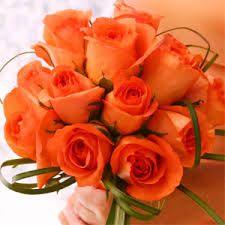 Image result for orange wedding flowers