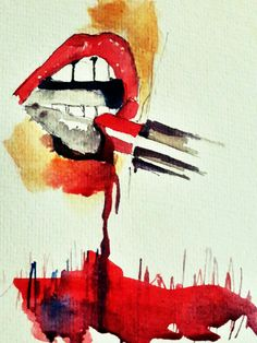 labios rojo carmesi
