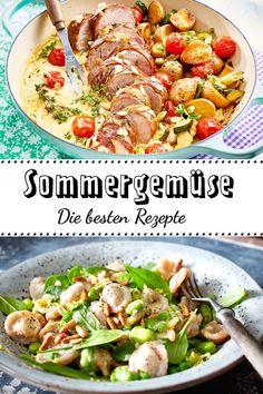 Aus dem Garten und auf die Teller: Probiere unsere bunten Rezeptideen mit #Sommergemüse. Von Aubergine bis Zucchini ist alles dabei!