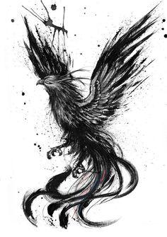 Phoenix ink drawing by Doriana Popa Phoenix ink drawing by . - Phoenix ink drawing by Doriana Popa Phoenix ink drawing by Doriana Popa - Phoenix Tattoo Men, Phoenix Tattoo Design, Phoenix Art, Phoenix Makeup, Phoenix Tattoo Feminine, Rising Phoenix Tattoo, Phoenix Design, Phoenix Tattoo Sleeve, Phoenix Painting